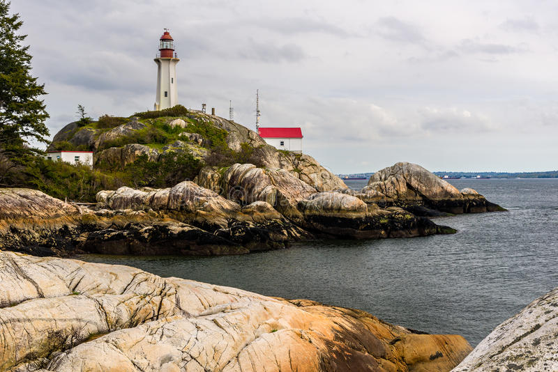 Phare d'Atkinson de point, Vancouver occidental, Canada images libres de droits