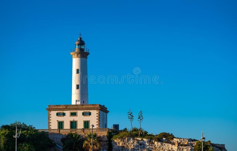 Phare d'Ibiza Botafoc dans le port d'Eivissa images libres de droits