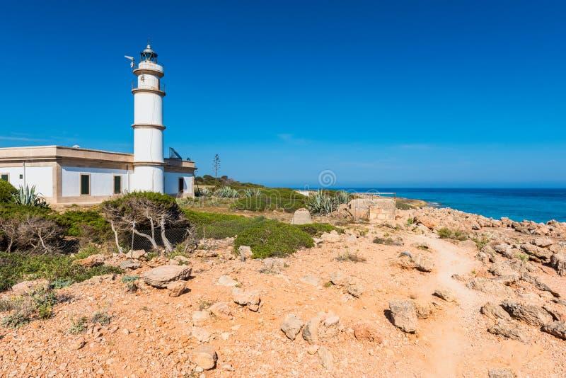 Phare dans Cap de Ses Salines Majorque photos libres de droits