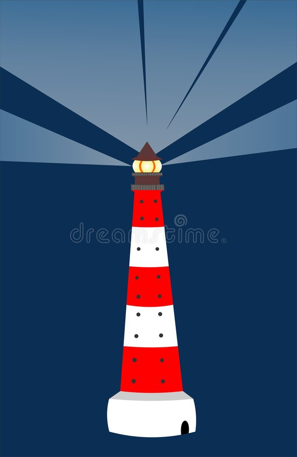 Phare dans l'action illustration libre de droits