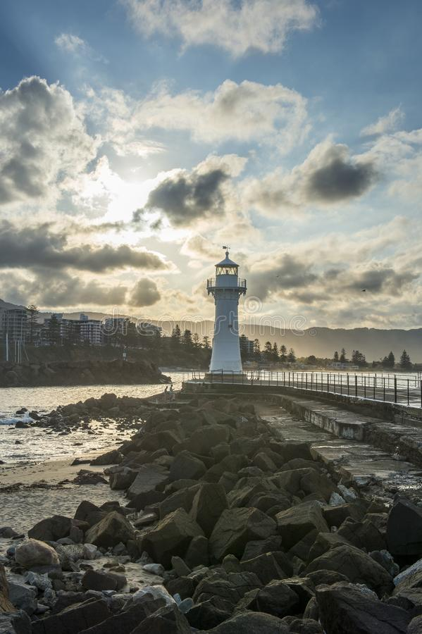 Phare dans l'Australie de Wollongong image stock