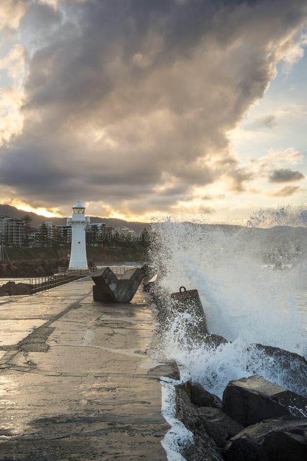 Phare dans l'Australie de Wollongong photographie stock libre de droits