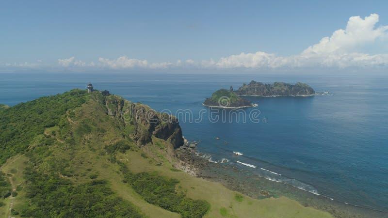 Phare dans l'engano de cap Philippines, île de Palaos photographie stock