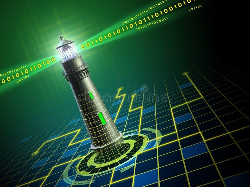 Phare dans le cyberespace illustration libre de droits