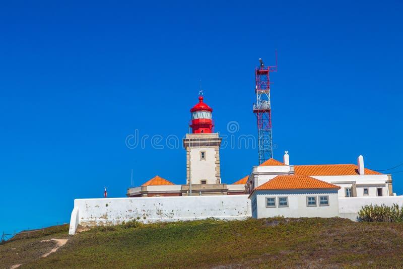 Phare dans le roca de Cabo DA, Portugal photo stock