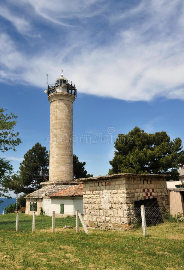 Phare dans Savudrija, Croatie photos libres de droits