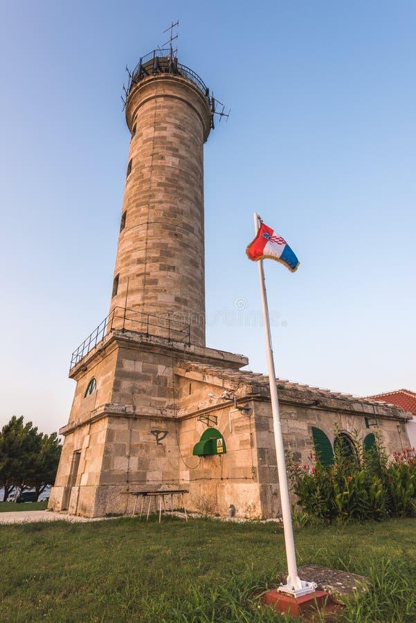 Phare dans Savudrija, Istria, Croatie images libres de droits