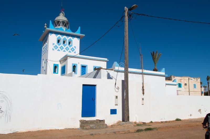 Phare dans Sidi Ifni, Maroc photo stock