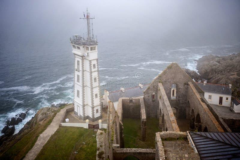 PHARE de Άγιος Mathieu, Plougonvelin, Finistere, Βρετάνη, Γαλλία στοκ φωτογραφία