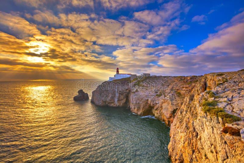 Phare de Cabo de São Vicente photo libre de droits