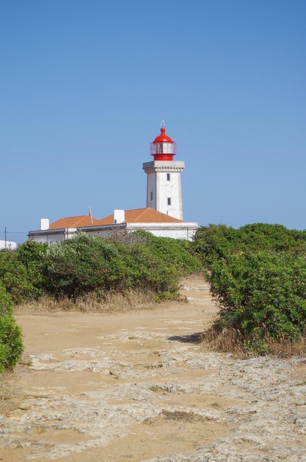 Phare de cap Carvoeiro dans Lagoa photo libre de droits