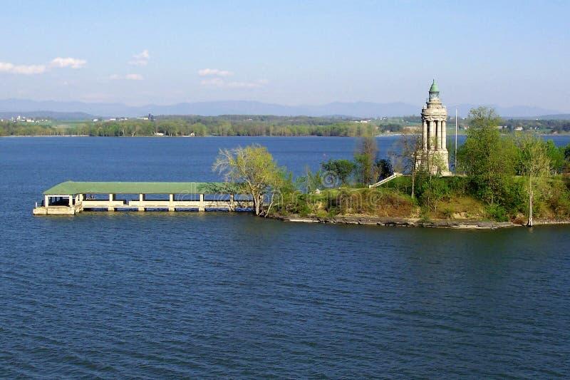 Phare de Champlain de lac photographie stock libre de droits