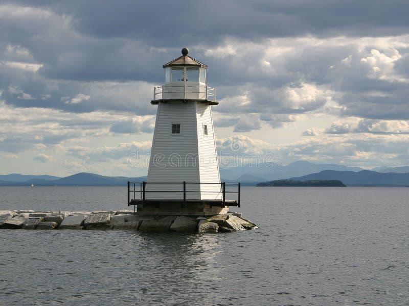 Phare de Champlain de lac images libres de droits