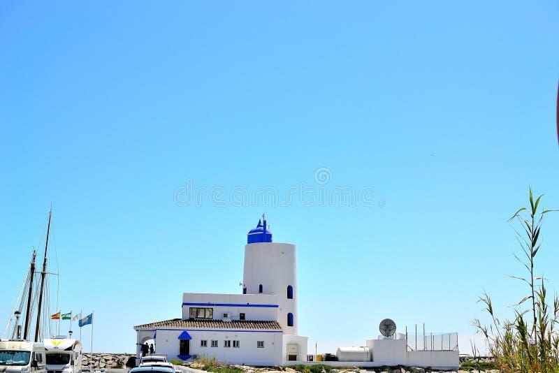phare de Duquesa de La, Costa del Sol, Espagne photo stock