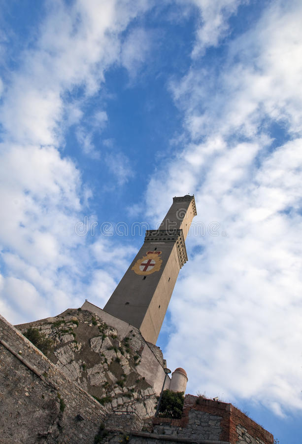 Phare de Gênes photo libre de droits