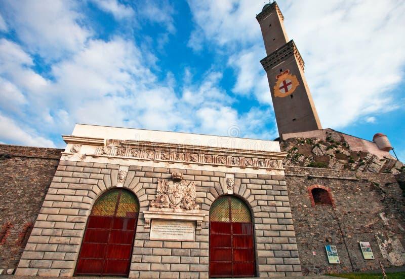 Phare de Gênes photographie stock libre de droits