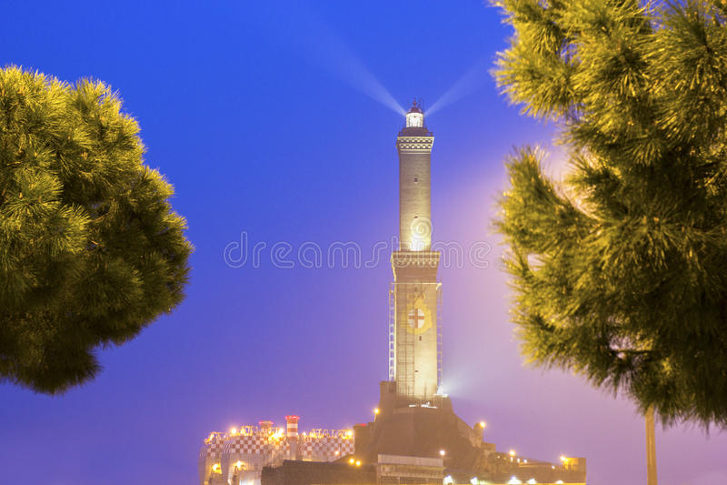 Phare de Gênes, Italie image stock
