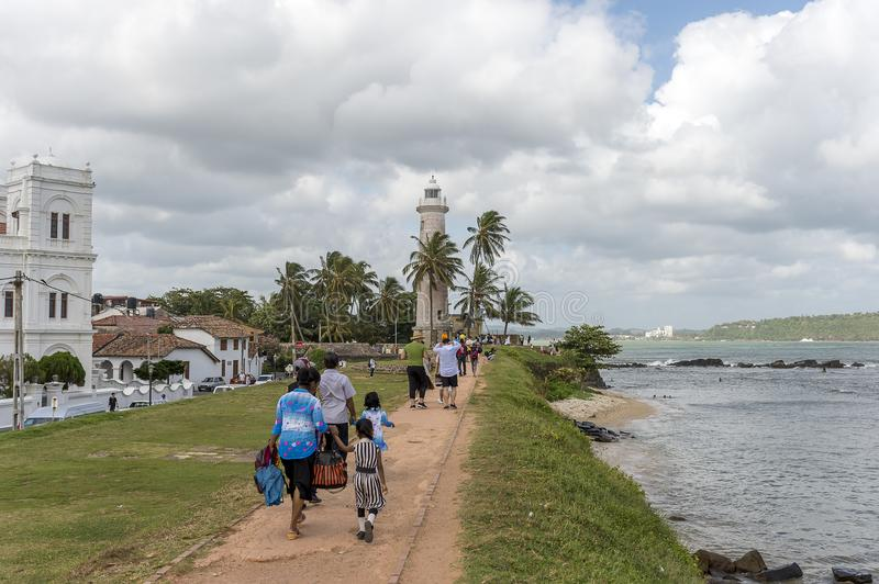 Phare de Galle, Sri Lanka photo stock
