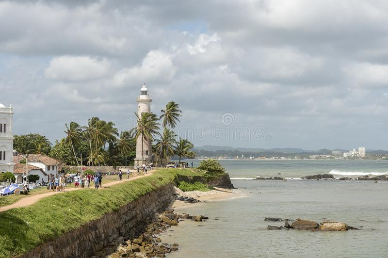 Phare de Galle, Sri Lanka images libres de droits