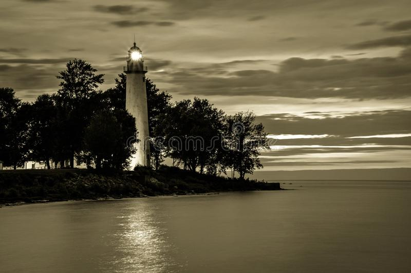 Phare de Great Lakes de vintage image libre de droits