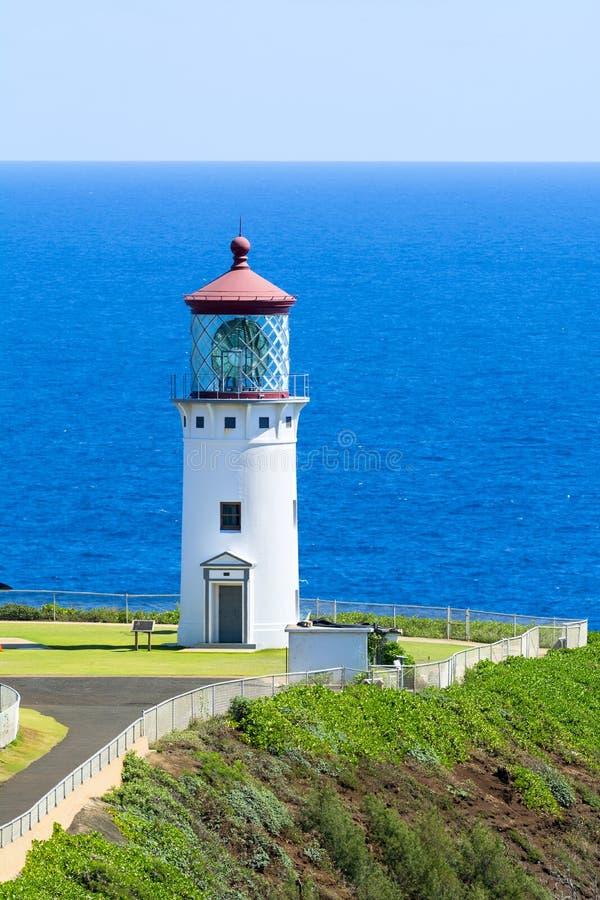 Phare de Kilauea en Hawaï photographie stock libre de droits