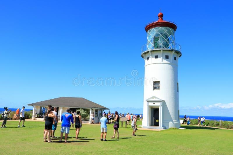 Phare de Kilauea, Kauai, Hawaï image stock