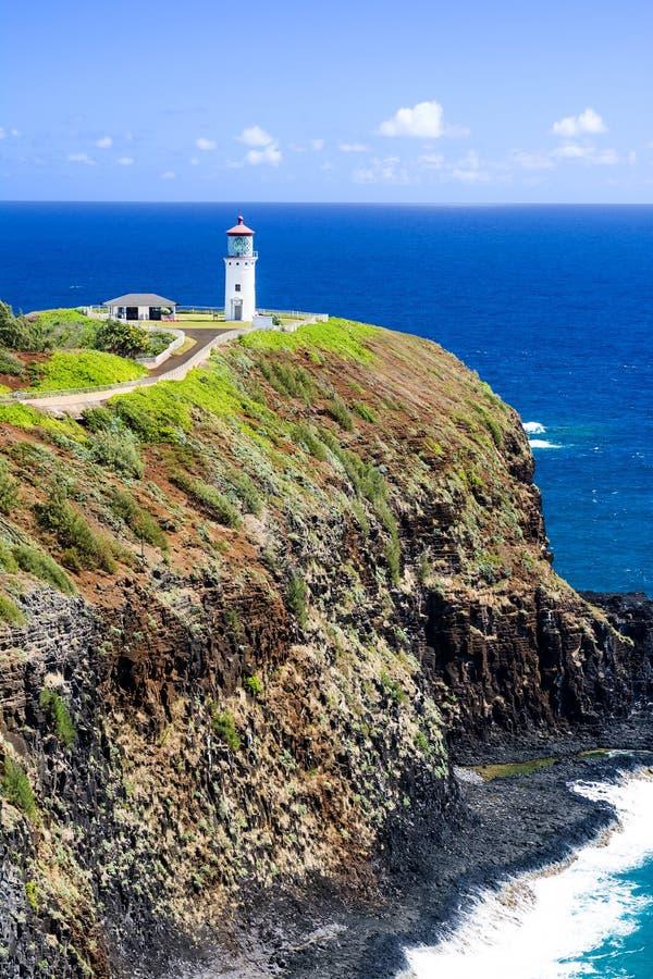 Phare de Kilauea sur Kauai photographie stock libre de droits