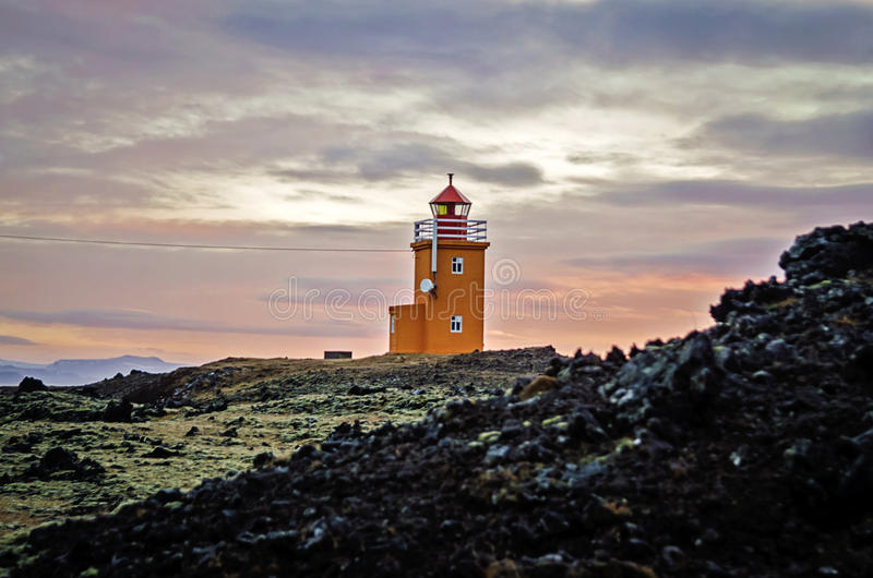 Phare de l'Islande photo libre de droits