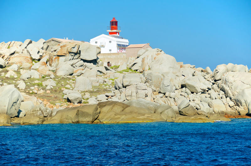 Phare de Lavezzi, Corse, France photographie stock libre de droits