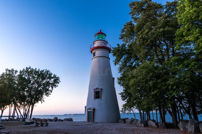 Phare de Marblehead en Ohio photographie stock libre de droits