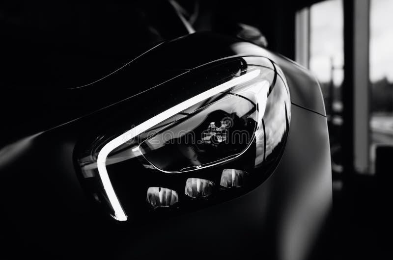 Phare de Mercedes Benz AMG GT 50 image stock