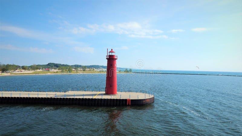 Phare de Muskegon Michigan Pier Head images libres de droits