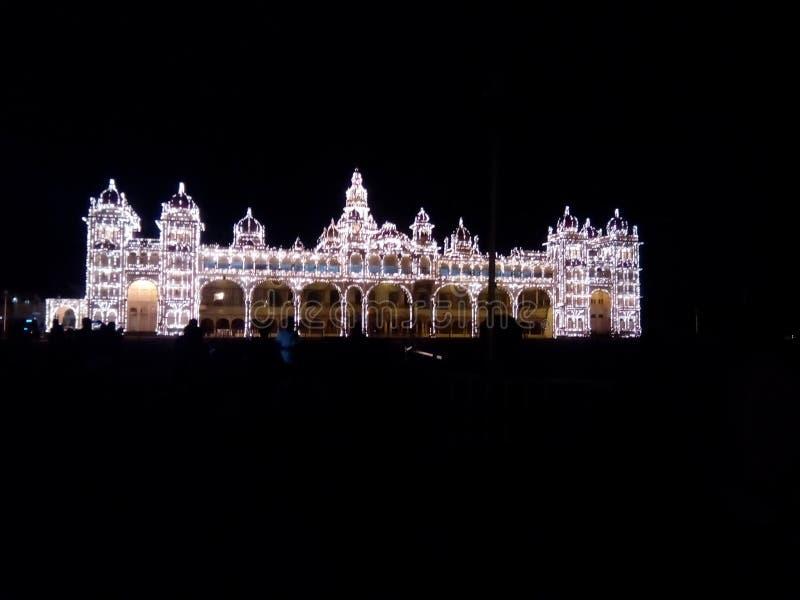 Phare de Mysore du monde dans le dasara images libres de droits