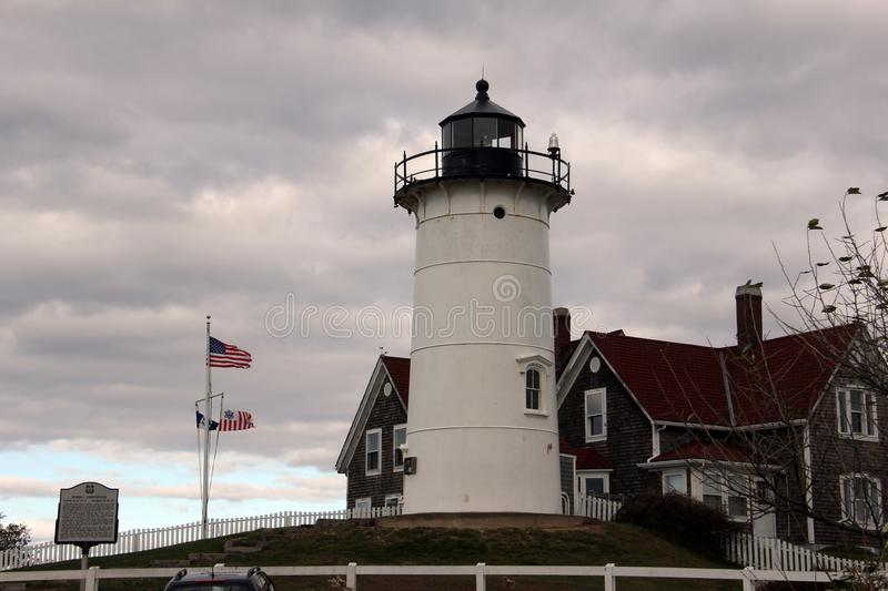 Phare de Nobska, Falmouth, le Massachusetts, Etats-Unis photos stock