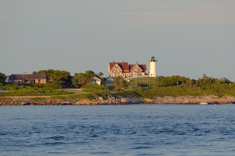 Phare de Nobska, trou en bois, le Massachusetts photo libre de droits