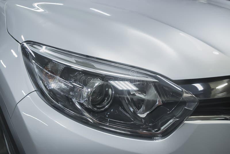 phare de plan rapproché prestigieux de voiture photographie stock libre de droits