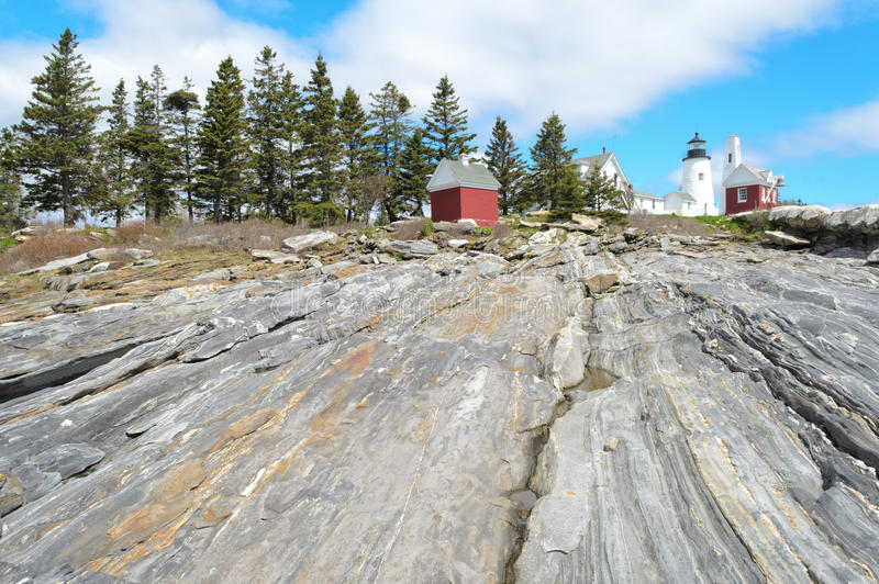 Phare de point de Pemaquid photographie stock libre de droits