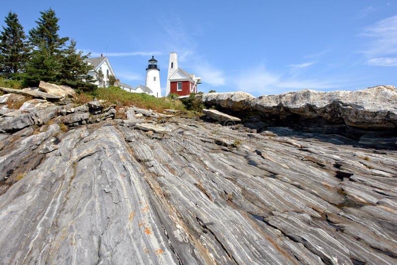 Phare de point de Pemaquid sur la côte du Maine images libres de droits
