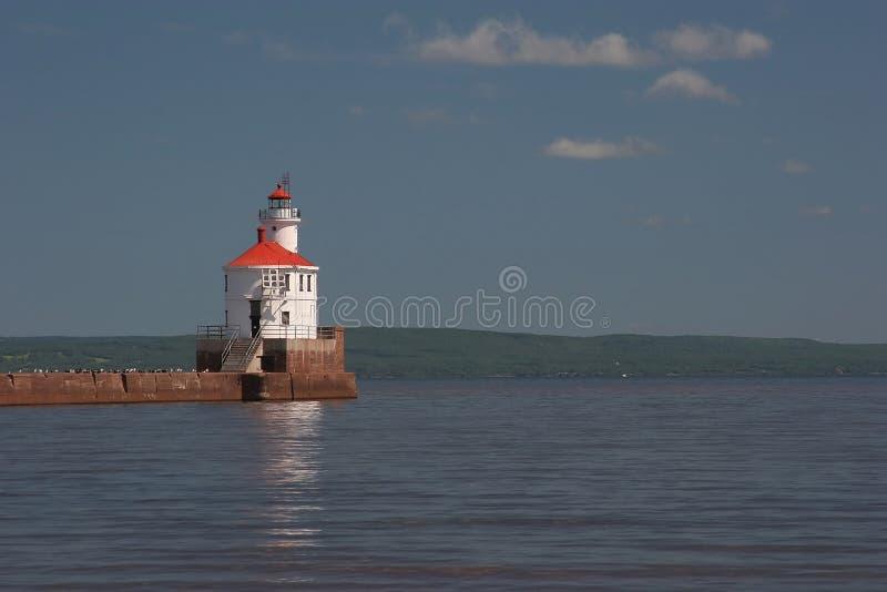Phare de point du Wisconsin photo stock