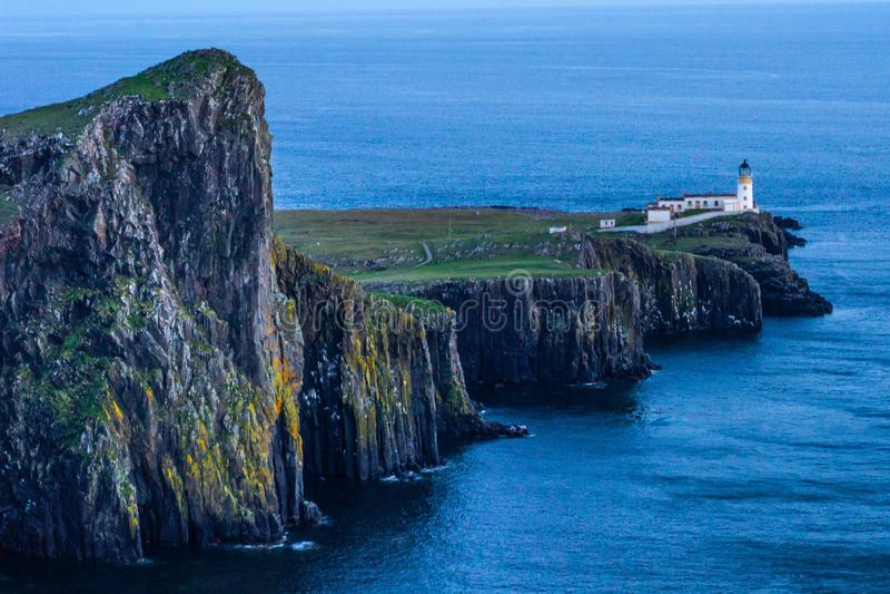 Phare de point de Neist, île de Skye, Ecosse photos stock