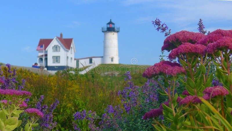 Phare de ` de protubérance de ` de Neddick de cap, York, Maine photo libre de droits