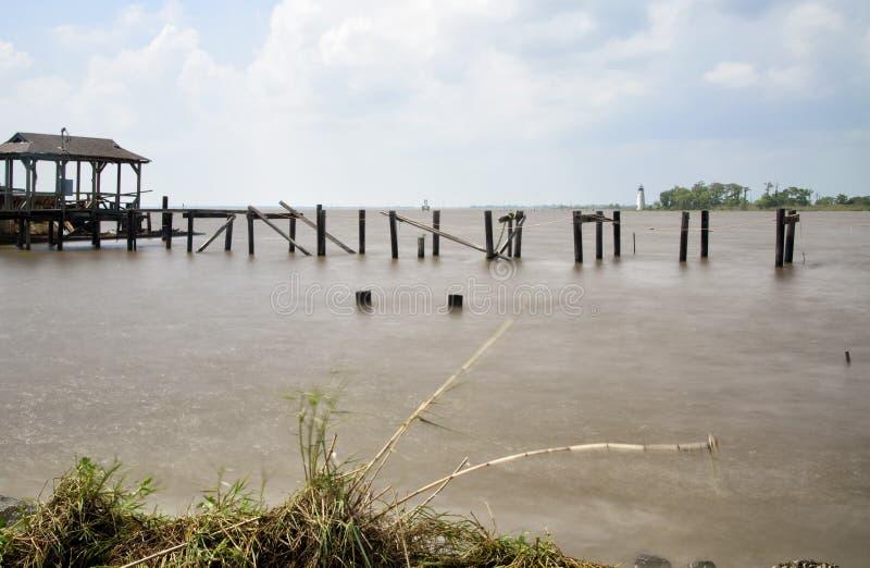 Phare de rivière de Tchefuncte image libre de droits