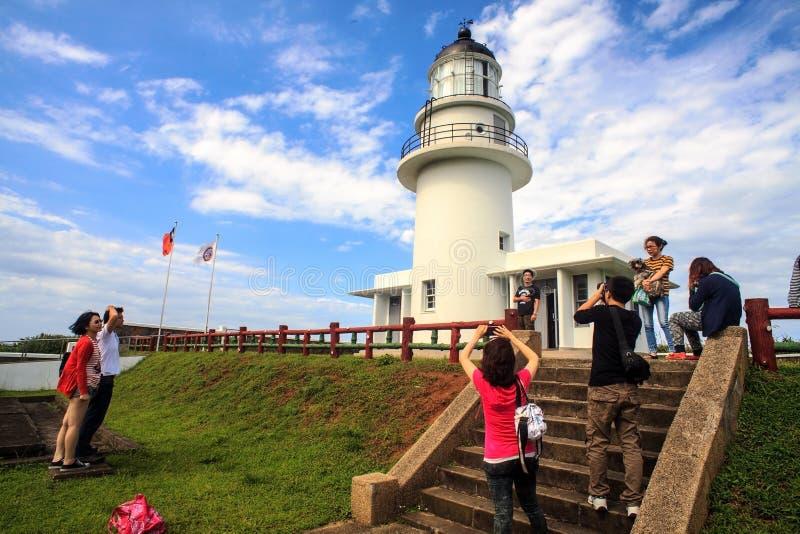 Phare de Sandiaojiao, Taïwan images libres de droits