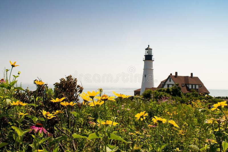 Phare de tête de Portland, Portland Maine, Etats-Unis photo libre de droits
