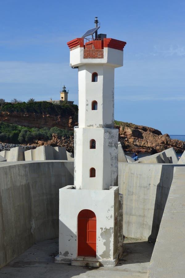 Phare de Tipaza, Algérie, Afrique image stock