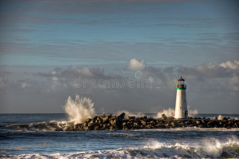 Phare de Walton de port de Santa Cruz photos stock