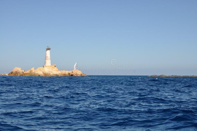 Phare des îles de Monaci image stock