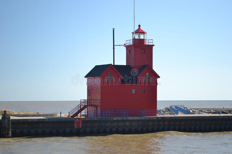 Phare du lac Michigan images stock
