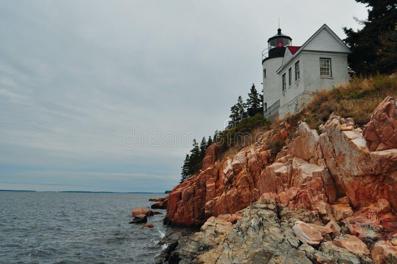 Phare du Maine sur une falaise image libre de droits
