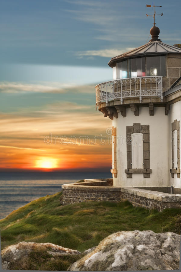 Phare en France photographie stock libre de droits